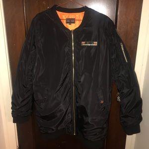 Black Bomber Jacket size XL